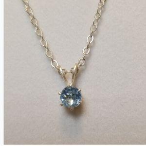 Effy solitaire blue pendant